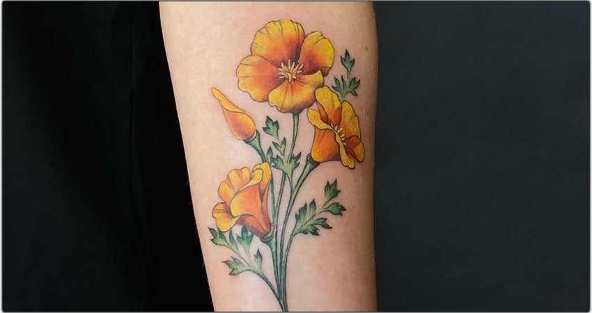 30 California Poppy Tattoo Ideas in 2021-Meanings,Designs,And More